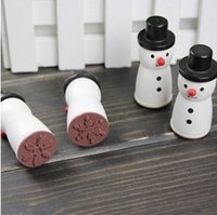 best rubber stamps - Funny snowman novelty rubber stamp Black and white Four snowflake designs scrapbooking decoration Best gifts JJ0061