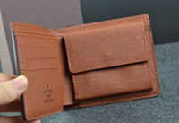 Wholesale new Mens Brand Leather Wallet Men s Leather With Wallets For Men Purse Wallet Men Wallet with box card