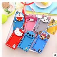 Wholesale Kawaii Cartoon Animals Neck Hanging Silicone Card Cover Bus Bank Id Card Case Holder