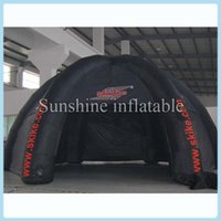 Wholesale 8m durable oxford outdoor black giant inflatable dome tent with cover and legs for advertising