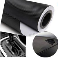 Wholesale 127cmX30cm D Carbon Fiber Vinyl Film Car Accessories Motorcycle Carbon Fibre Car Wrap Sheet Roll Film Sticker Decal Car Styling