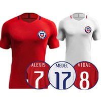 Wholesale top Thai Quality A VIDAL ALEXIS Chile Jersey Running shirt VALDIVIA MEDEL CH ARANGUIZ