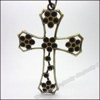 Wholesale 10 Vintage Charms Cross Pendant Antique bronze Fit Bracelets Necklace DIY Metal Jewelry Making