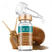 acne treatment solutions - Snail extract white Serum Repair Solution face scars skin care Rejuvenation beauty Hyaluronic acid ampoules anti acne makeup