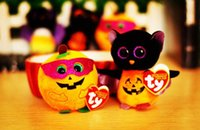 bats big lots - 2pcs New American Style Cute Cartoon ty big eyes ball bat Halloween pumpkin Christmas adorable plush toy
