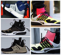 bamboo mesh - 2017 New Air Presto MID White Black Hot Lava Medium Olive Mens Running Shoes High Quality Men Sport Trainers Athletic Sneakers Black Bamboo