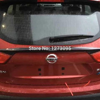 auto qashqai - ABS Chrome Carbon fiber rear wing stickers For Nissan Qashqai J11 Auto Styling Accessory