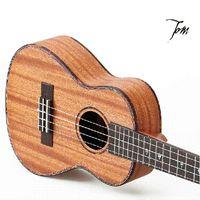 Wholesale TOM guitar ukulele TUC B inch Rosewood Carved Concert Electric Ukulele Small Hawaiian Guitar Bag