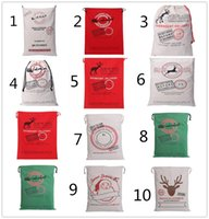 Wholesale Free DHL Christmas Santa Sack Stocking larger Size Gift bags Christmas DecorChristmas Gift Bags cm Large Canvas Santa Sack