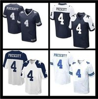 Wholesale 2016 NEW Dak Prescott Cowboys blue white Thanksgiving Day Stitched Elite Football Jerseys size M XXXL Mixed order