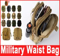 Wholesale Military Outdoor Waterproof Nylon Tactical Waist Fanny Pack Belt Bag EDC Camping Hiking Travel Sports Pouch Wallet Phone Bag Hot Sale