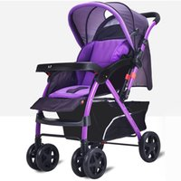 Wholesale Foldable Baby Stroller Portable Infant Carriage Large Basket By Comfortable Baby Sitting and Lying Pushchair JN0093