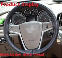 Wholesale Steering Wheel Cover for most of the car steering wheel Black Genuine Leather Cover real leather cover DIY made by China