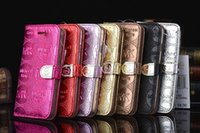 Wholesale For Iphone C S S Plus Samsung Galaxy S5 S6 S6 Edge Note Case M Luxury Design Mobile Phone leather case