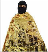 Wholesale 100 Waterproof Emergency Survival Foil Thermal First Aid Rescue Blanket Tent