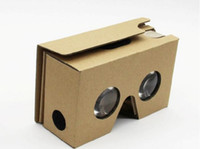 Wholesale DIY Google Cardboard V2 glasses paper boxes Mobile Phone Virtual Reality D Viewing google II Glasses for iphone S plus Samsung s7 edge