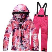 Wholesale Ski suits suits men and women couple models outdoor winter ski pants veneer double plate skiwear suit female