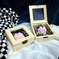 Wholesale 10 cm high quality wooden box Handmade soap packing box spices storage box Jewelry box Storage box Gift box