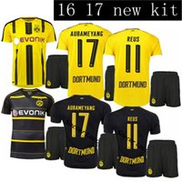Wholesale 2016 Borussia Dortmund kit home away Jerseys Dortmund adult Coat pants Jerseys REUS GUNDOGAN PULISC Borussia Dortmund footba