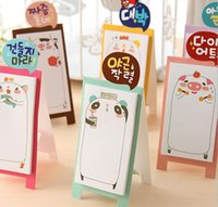 Self-Adhesive adhesive note pads - NEW Korea Stationery Pretty Kawaii Cartoon Sticker Post It Bookmarker Memo Pad Flags Sticky Note HJIA575