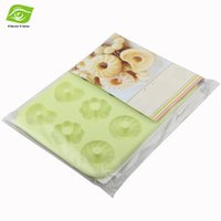 baking mix biscuits - Eco friendly Fondant Silicone Mold Heart Circle Mixed Flower Cupcake Pan Biscuit Donuts Baking Pan Cake Tools
