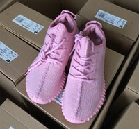 Unisex Mesh PU 2016 NEW colors Boost 350 For woman shoes purple and Full PinK Color 350 Running Shoes US5-US7.5 with box
