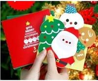 Wholesale Korea style fashion Folding design D Christmas cards Sheets Sets Christmas gift