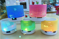 Wholesale Wireless Bluethooth Mini Speaker A9 LED lights Stereo Portable Handsfree Speakers Support USB Micro SD TF Card