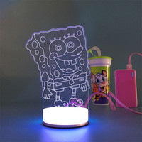 bedside tables - 3D small desk lamp USB Bluetooth Victory finger art Colorful DIY LED night light bedside lamp creative gifts married led table lamp