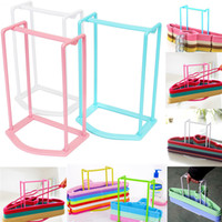 bathroom storage designs - High Quality Household Simple Design Clothes Organizer Hanger Holder Stacker Storage Rack Home Travel Candy Colors