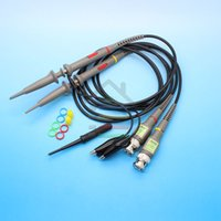 Wholesale 2pcs Set DC MHz P6100 Oscilloscope Probe MHz Scope Clip Probes order lt no track