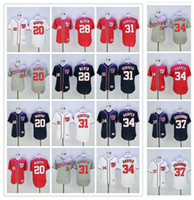 army national - 2016 MLB Flexbase Washington Nationals Jerseys Daniel Murphy Jayson Werth Max Scherzer Bryce Harper Stephen Strasburg Jersey Blue Red White