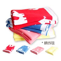 Wholesale kolaco Baby Blanket Cotton Knitted Couverture Plaid For Bed Sofa Bath Towels cm