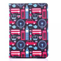 auto paint mixing - IPad air Oil Painting Series Flower Pattern PU leather Case Auto sleep wake Stand Cover OPP BAG