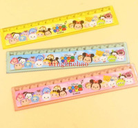 Wholesale New Sale box Tsum mickey minnie cartoon ruler cm straight ruler students gift