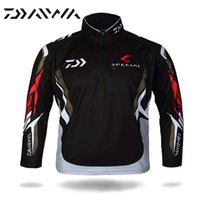 Wholesale High Quality Daiwa Brand Breathable Fishing Clothing For Men Summer UV Sun Protection Quick Dry Cooler Clothes Long Sleeves