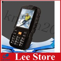 battery by cell phone - Original NO a9 Russian keyboard IP67 Waterproof shockproof phone Dual SIM Card mobile cell phones mAh battery Wireless FM BY DHL