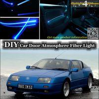 alpine doors - interior Ambient Light DIY Tuning Atmosphere Fiber Optic Band Lights For Renault Alpine GTA Car Door Panel illumination Refit