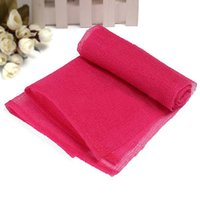 Wholesale Hot New New Fashion Mesh Bath Shower Body Scrubbing Clean Wash Soap Exfoliate Puff Cloth Towel Hot Rose Red1