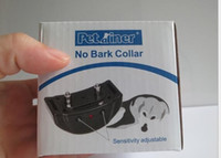 Wholesale 2016 HOT Anti Bark Dog Training Shock Control No Barking Collar fast shipping by DHL from world factory