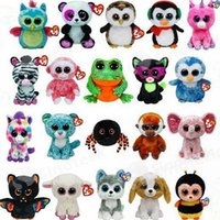 Wholesale 2016 Ty Beanie Boos Plush Stuffed Toys Big Eyes Animals Soft Dolls for Kids Birthday Gifts