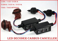achat en gros de adaptateur ampoule h11-1 paire (2PCS) Ampoules LED haute puissance Erreur 8W Canbus libre Canceler adaptateur décodeur anti-hyper clignotant 1156 1157 3156-A / B 3157-A / B 7440 7443
