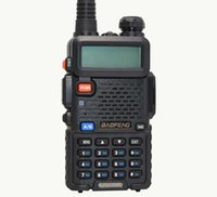 Wholesale Hot Portable Radio Baofeng UV R two way radio Walkie Talkie pofung W vhf uhf dual band MHZ baofeng uv r