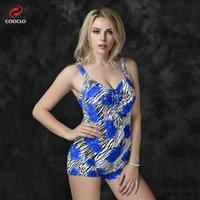 Wholesale plus size swimwear one piece women swimsuit floral print zebra striped vintage swimsuit beachwear