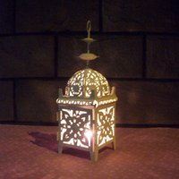 Wholesale Cheap Black White color retro Metal candle holder Small Iron lantern wedding decoration