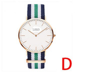 Wholesale newest d w quartz watch fashion nylon strap men watch chrismas gifts watch