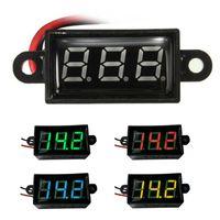 batteries moto - hot Waterproof DC V Mini Digital LED Voltmeter Volt Meter F V Car Moto