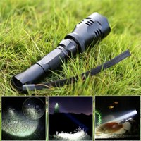beam waterproof flashlight - Kamisafe KM A CREE Q5 LED Handheld Long Beam Distance Flashlight Searchlight Waterproof Outdoor Tactical Flashlight Torch with Wrist Str
