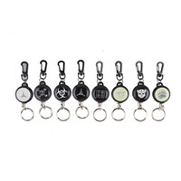 Wholesale EDC Outdoor Camping Steel Rope Burglar Keychain Stalker Soft Shell Tactical Retractable Key Chain Key Return Keyring