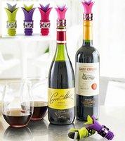 Wholesale 2016 New Unique Silicone Lily Wine Bottle Stopper Pourer Colors Glass Wine Pourer Drop Stop Liquid Pourer Stopper